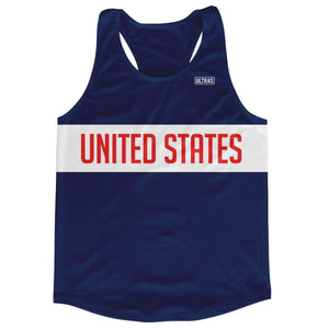United States Running Tank Top Racerback Track and Cross Country Singlet Jersey - Navy / Adult X-Small - Running Top