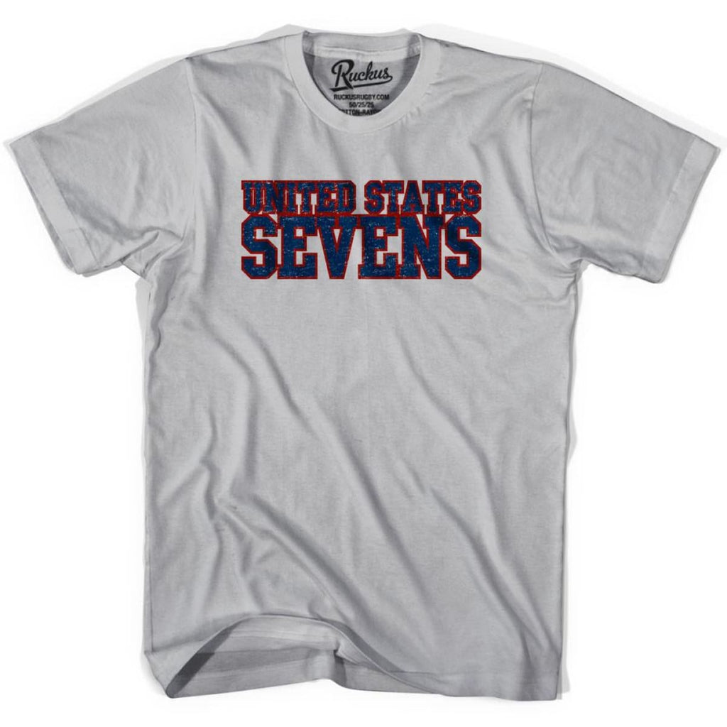United States Sevens (Navy Version) Rugby T-shirt - Cool Grey / Youth Small - Rugby T-shirt