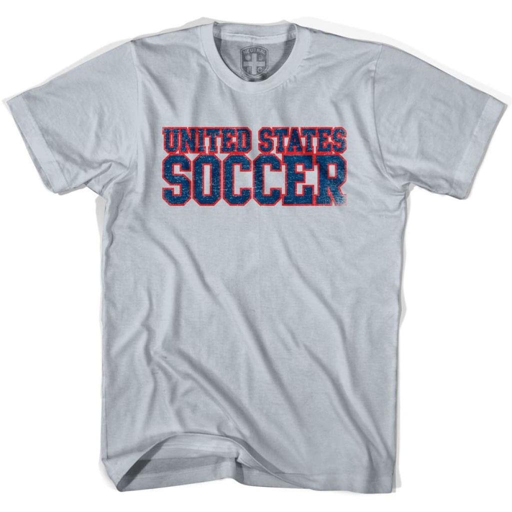 United States Soccer Nations World Cup T-shirt - Silver / Youth X-Small - Ultras Soccer T-shirts