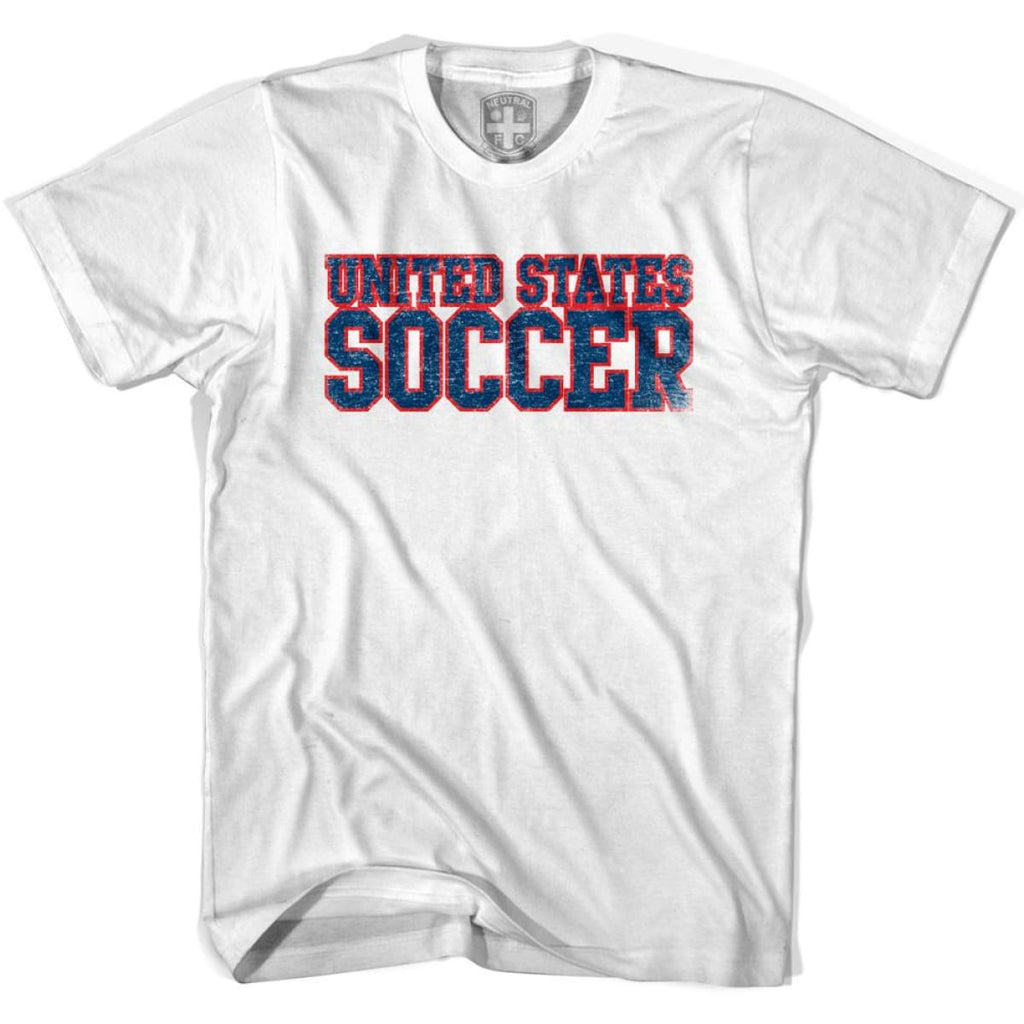 United States Soccer Nations World Cup T-shirt - White / Youth X-Small - Ultras Soccer T-shirts
