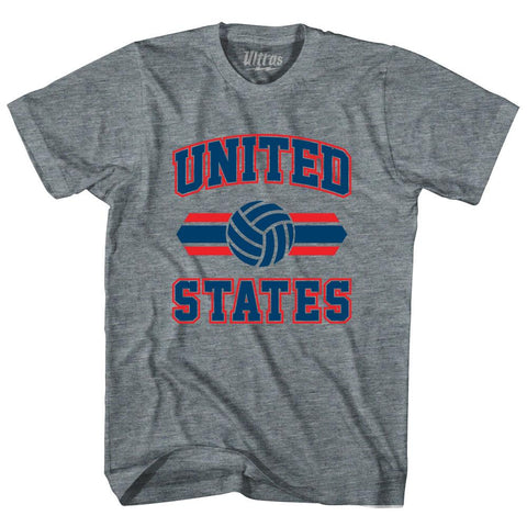 United States 90's Volleyball Team Tri-Blend Adult T-shirt