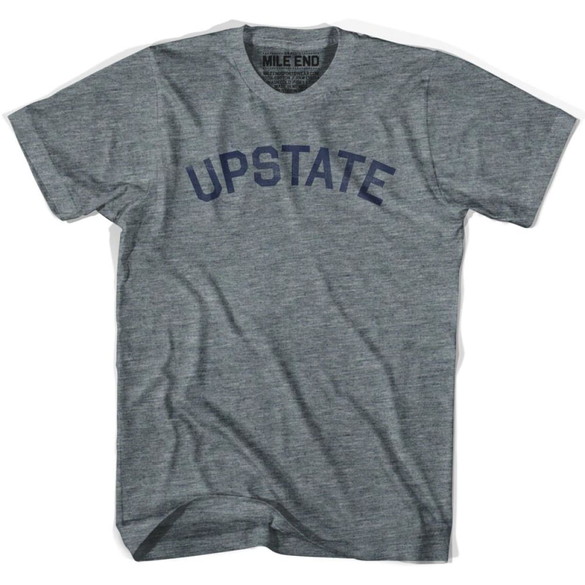 Upstate City Vintage T-shirt - Athletic Grey / Adult X-Small - Mile End City