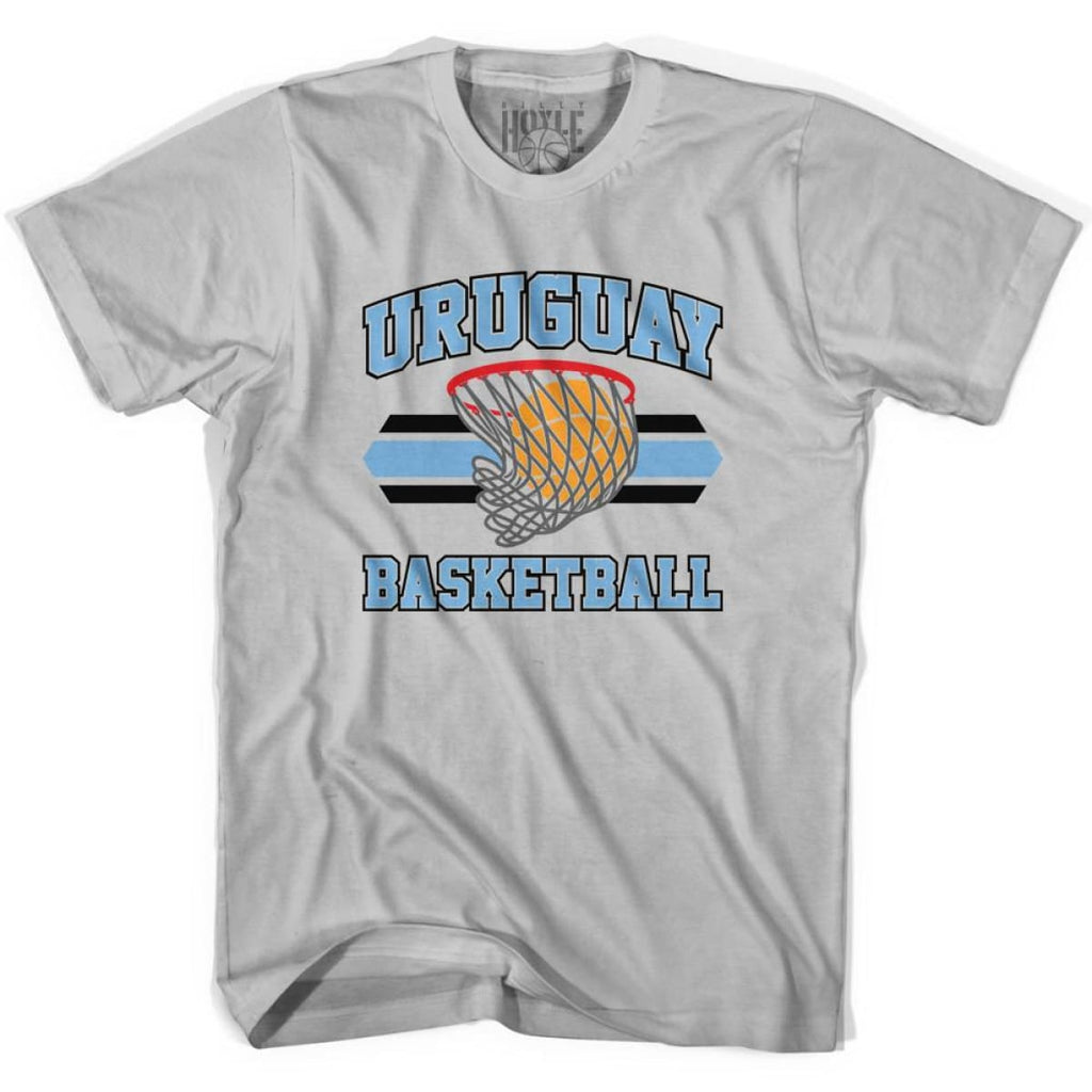 Uruguay 90s Basketball T-shirts - Silver / Youth X-Small - Basketball T-shirt