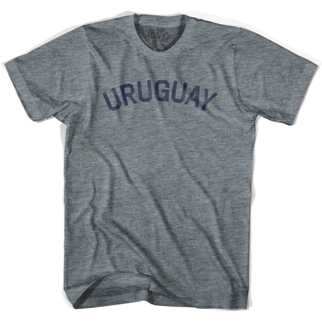 Uruguay City Vintage T-shirt - Athletic Grey / Adult X-Small - Mile End City