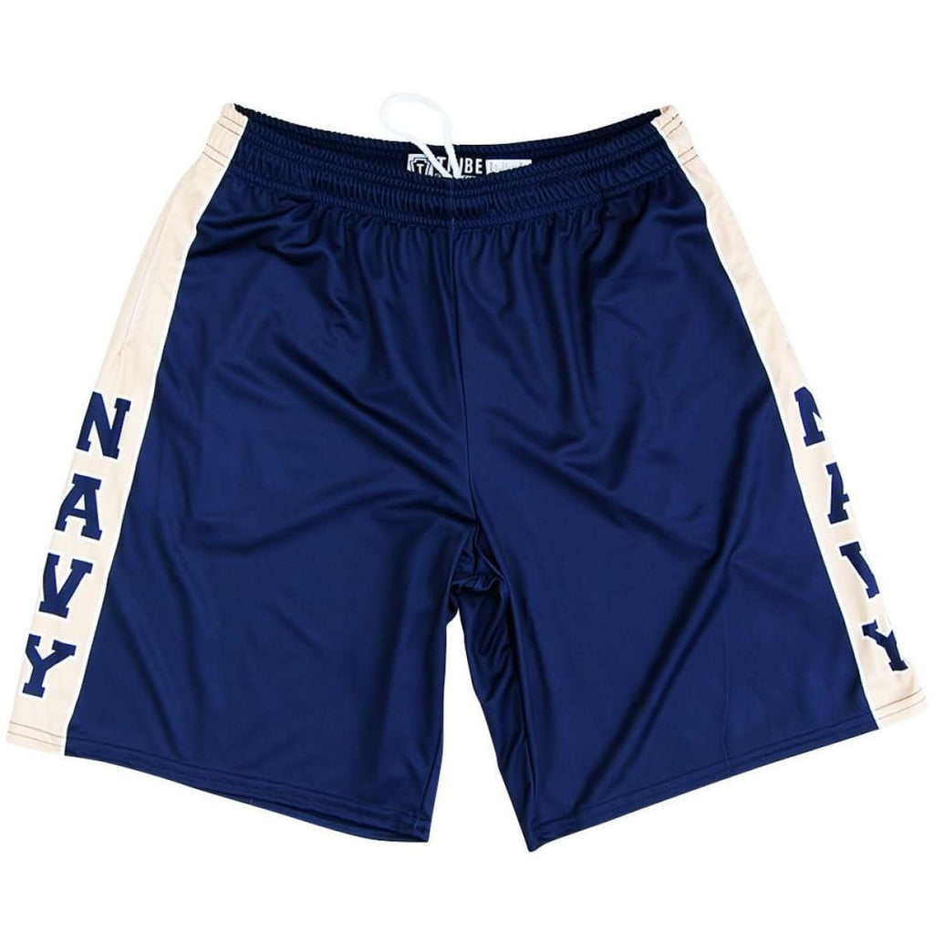 US Navy Blue & Gold Lacrosse Shorts - Navy & Gold / Youth X-Small - Tribe Lacrosse Shorts