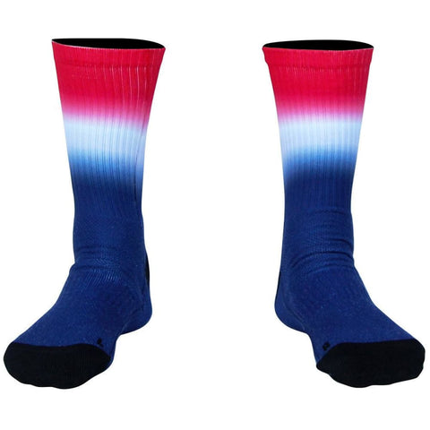 USA Ombre Athletic Crew Socks - Red White and Blue / Medium - Socks