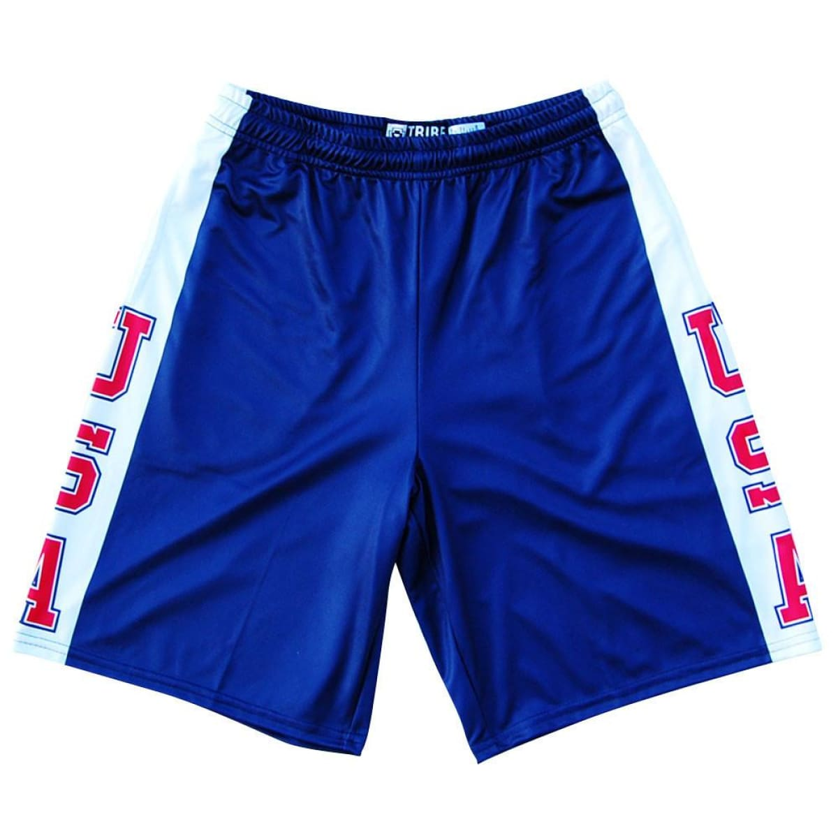 USA Sideline Lacrosse Shorts - Navy / Youth X-Small - Tribe Lacrosse Shorts