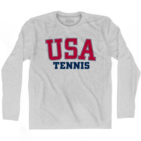 USA Tennis Ultras Long Sleeve T-shirt - Grey Heather / Adult Small - Ultras Country T-shirts