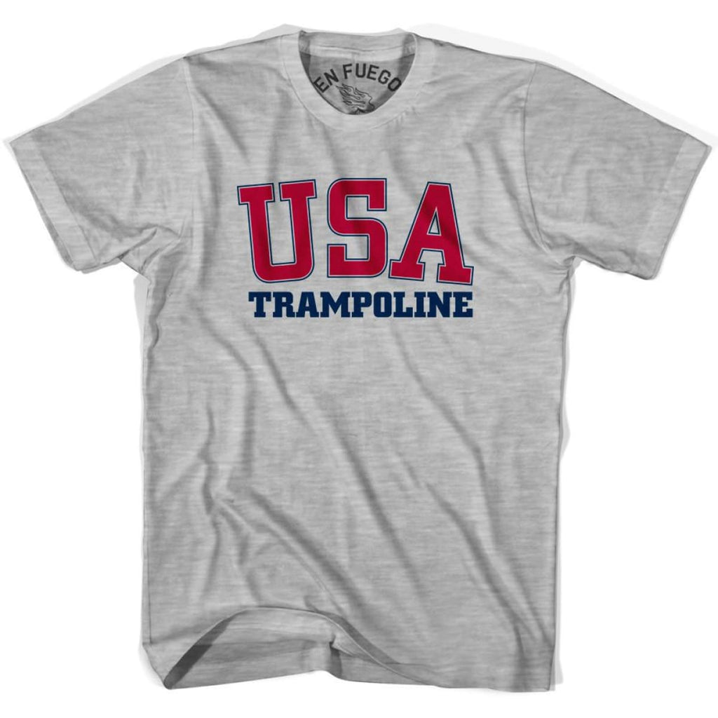USA Trampoline T-shirt - Heather Grey / Adult Small - Mile End City