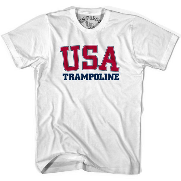 USA Trampoline T-shirt - White / Adult Small - Mile End City