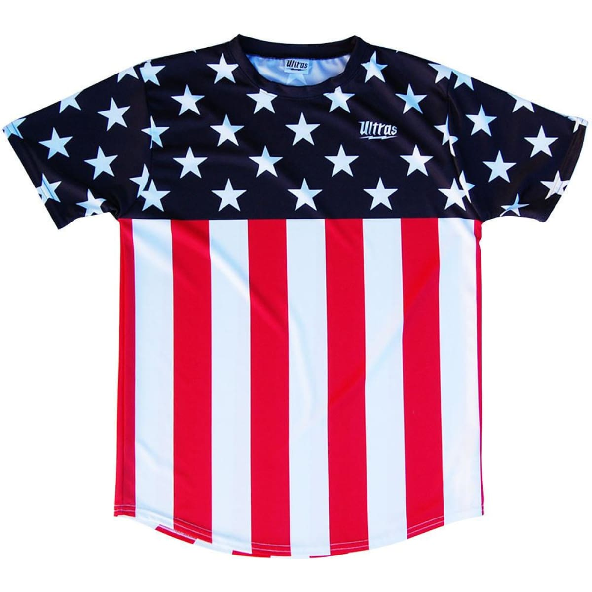 USA Ultras Stars and Stripes Soccer Jersey - Navy White Red / Youth X-Small / No - Ultras State Cup Soccer Jerseys