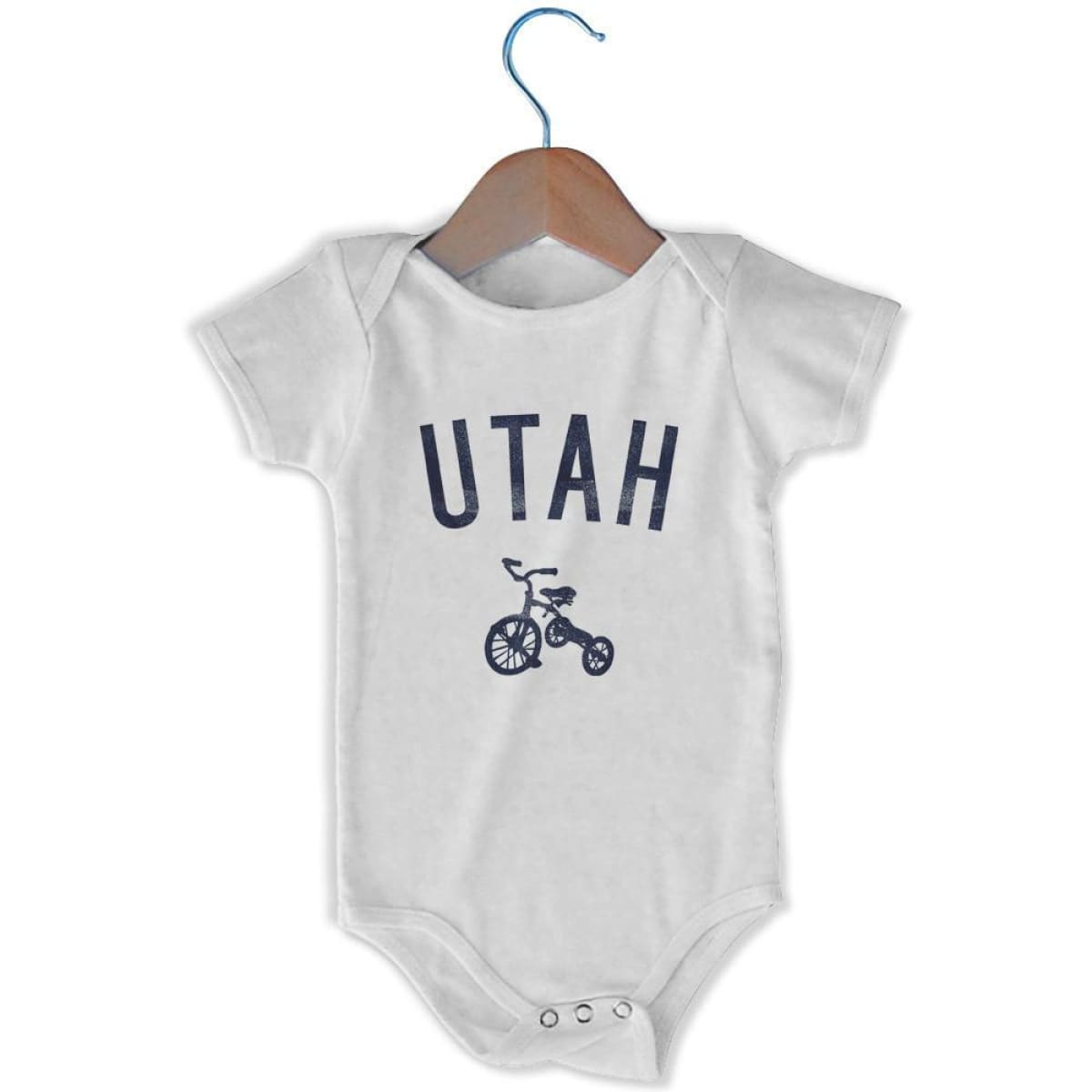 Utah City Tricycle Infant Onesie - White / 6 - 9 Months - Mile End City