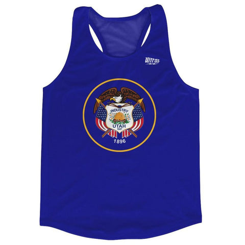 Utah State Flag Running Tank Top Racerback Track and Cross Country Singlet Jersey - Royal Blue / Adult X-Small - Running Top