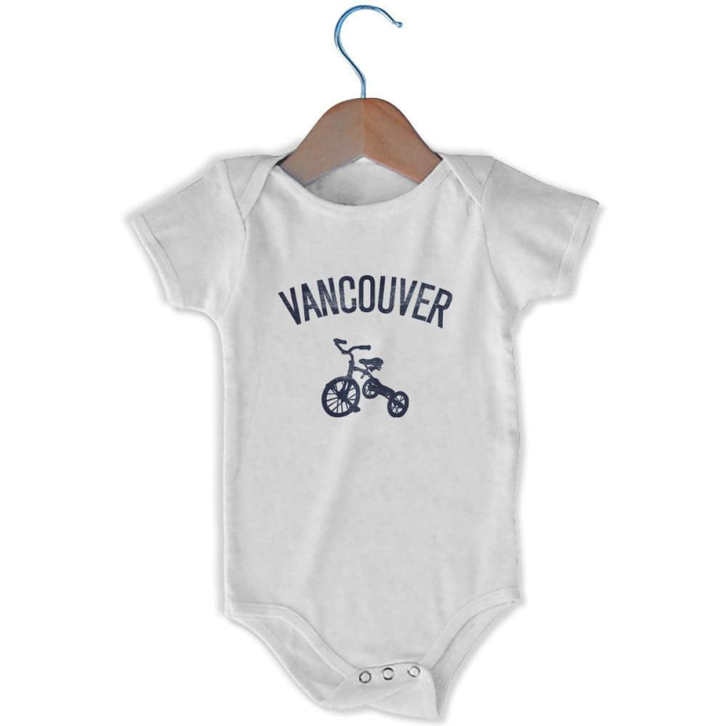 Vancouver City Tricycle Infant Onesie - White / 6 - 9 Months - Mile End City