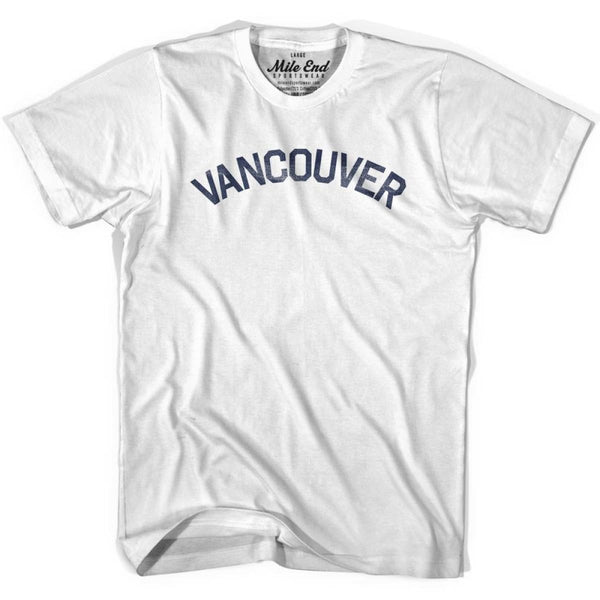 Vancouver City Vintage T-shirt - White / Youth X-Small - Mile End City