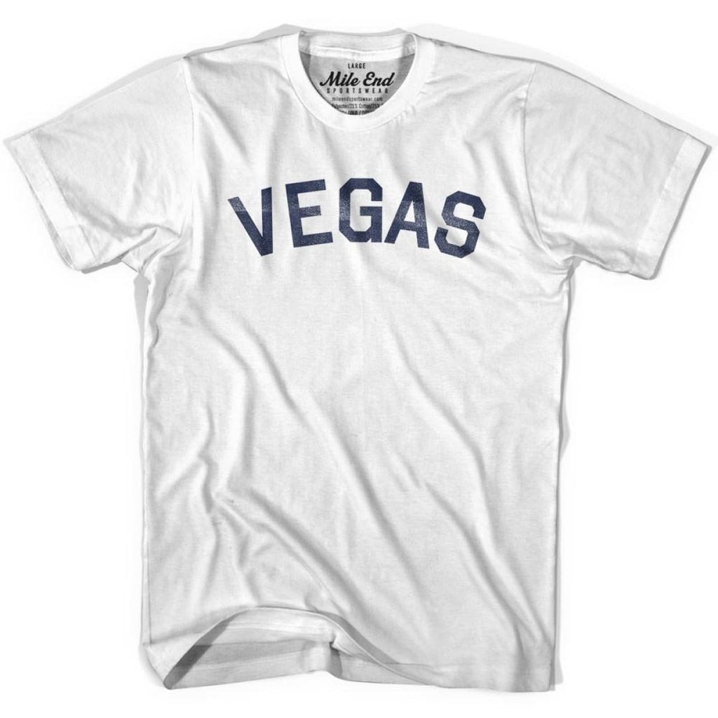 Vegas City Vintage T-shirt - White / Youth X-Small - Mile End City