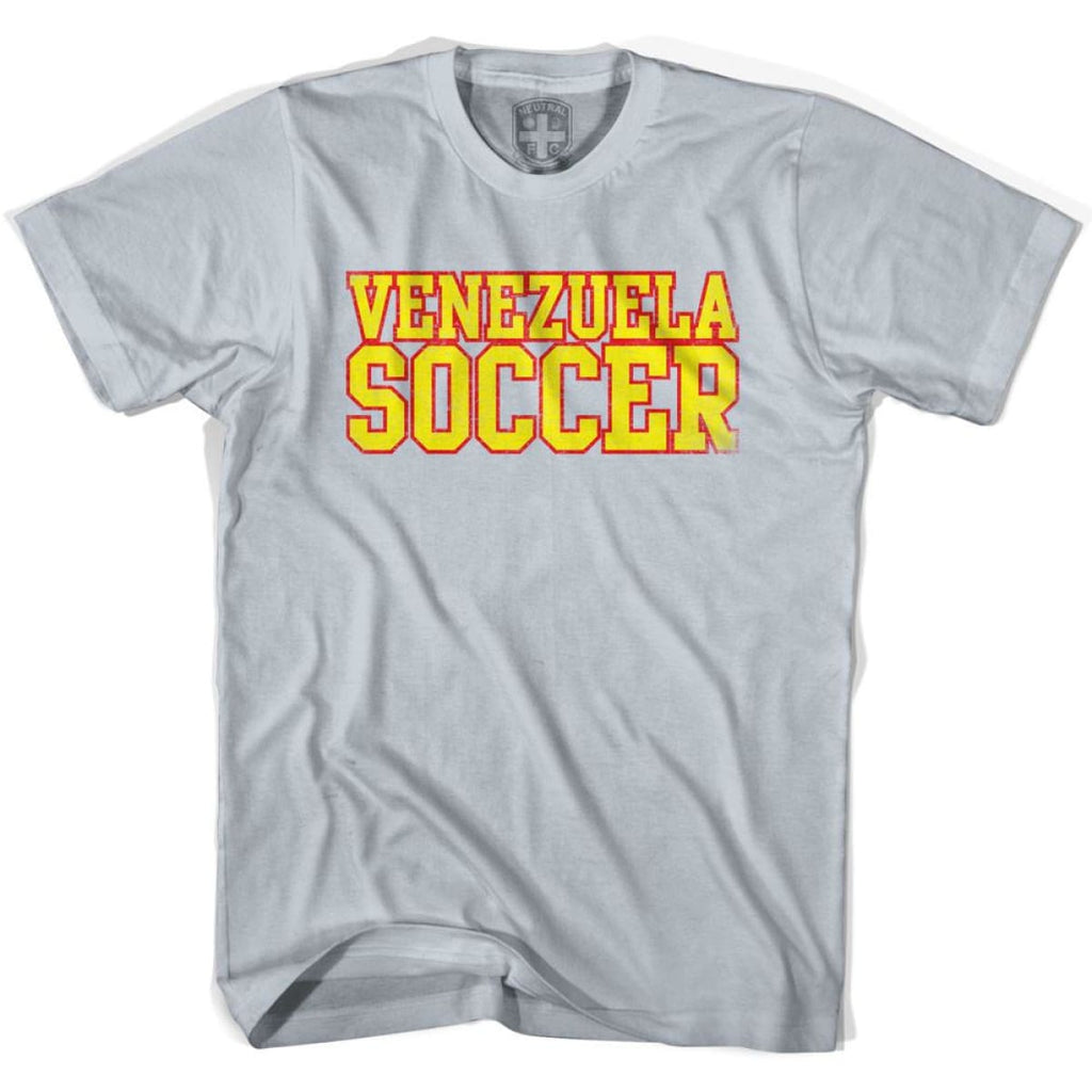 Venezuela Soccer Nations World Cup T-shirt - Silver / Youth X-Small - Ultras Soccer T-shirts