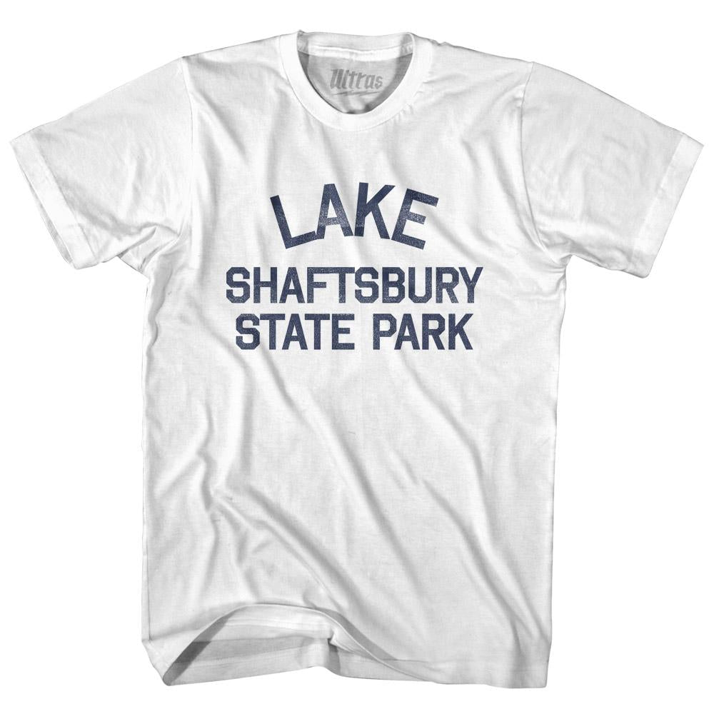 Vermont Lake Shaftsbury State Park Adult Cotton Vintage T-shirt by Ultras