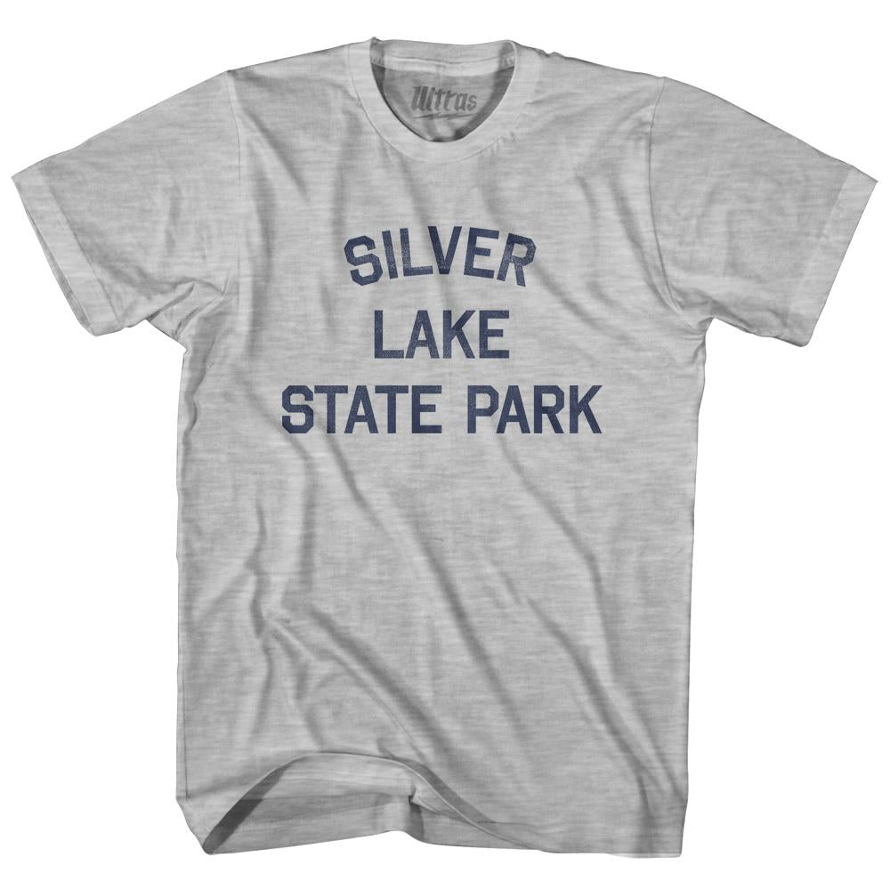 Vermont Silver Lake State Park Adult Cotton Vintage T-shirt by Ultras