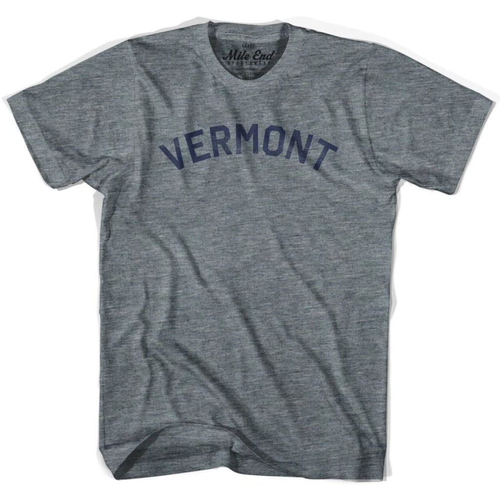 Vermont Union Vintage T-shirt - Athletic Blue / Adult X-Small - Mile End City