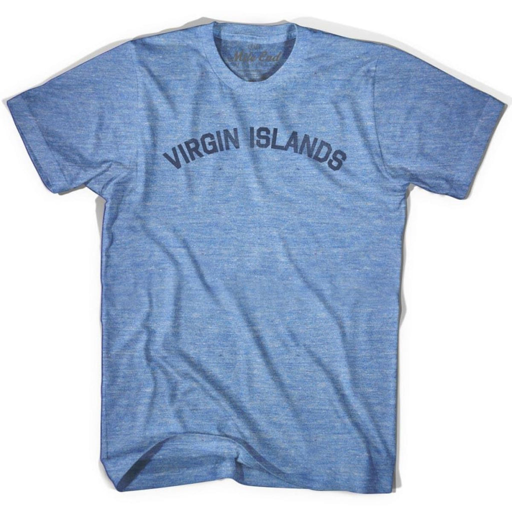 Virgin Islands City Vintage T-shirt - Athletic Blue / Adult X-Small - Mile End City