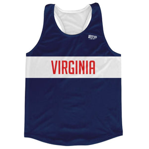 Virginia Finish Line Running Tank Top Racerback Track and Cross Country Singlet Jersey - Navy / Adult X-Small - Running Top