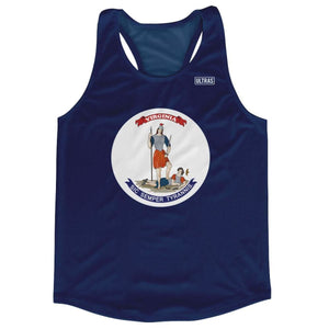 Virginia State Flag Running Tank Top Racerback Track and Cross Country Singlet Jersey - Navy / Adult X-Small - Running Top