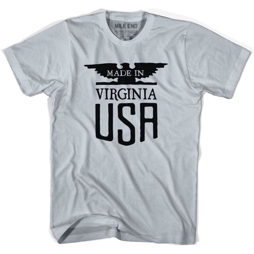 Virginia Vintage Eagle T-shirt - Cool Grey / Youth X-Small - Made in Eagle