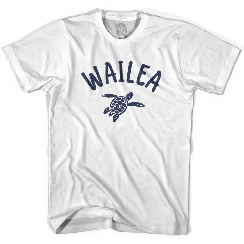Wailea Beach Sea Turtle Adult Cotton T-shirt - White / Adult Small - Turtle T-shirts