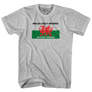 Gareth Bale Wales Golf Madrid In that Order Adult Cotton Soccer T-shirt by Ultras
