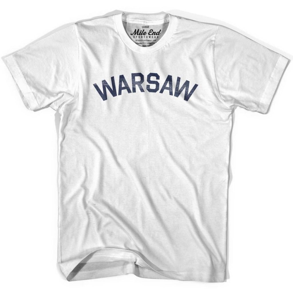 Warsaw City Vintage T-shirt - White / Youth X-Small - Mile End City