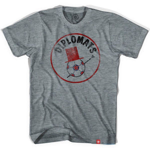 Washington Diplomats Soccer T-shirt - Athletic Grey / Adult X-Small - Ultras Vintage American Soccer T-shirts