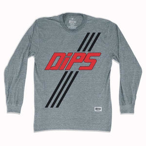 Washington DIPS Soccer Long Sleeve T-shirt - Athletic Grey / Adult Small - Ultras Vintage American Soccer T-shirts