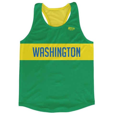 Washington Finish Line Running Tank Top Racerback Track and Cross Country Singlet Jersey - Green / Adult X-Small - Running Top