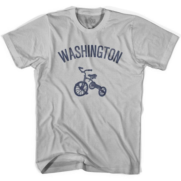 Washington State Tricycle Adult Cotton T-shirt - Cool Grey / Adult Small - Tricycle State