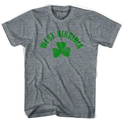 West Virginia State Shamrock Tri-Blend T-shirt - Athletic Grey / Adult X-Small - Shamrock Collection