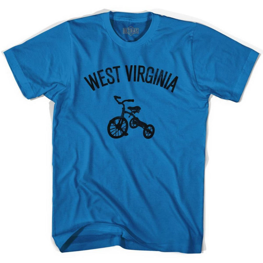 West Virginia State Tricycle Adult Cotton T-shirt - Royal / Adult Small - Tricycle State