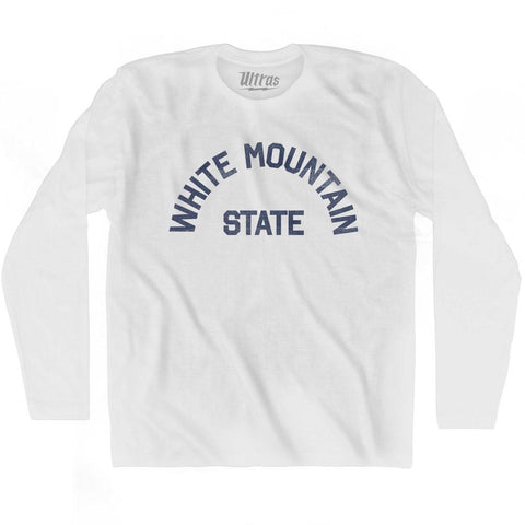New Hampshire White Mountain State Nickname Adult Cotton Long Sleeve T-shirt by Ultras