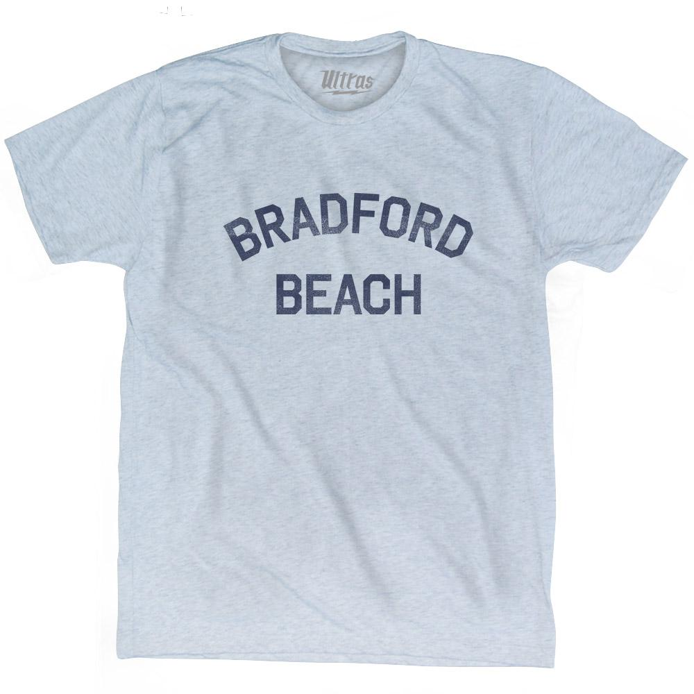 Wisconsin Bradford Beach Adult Tri-Blend Vintage T-shirt by Ultras