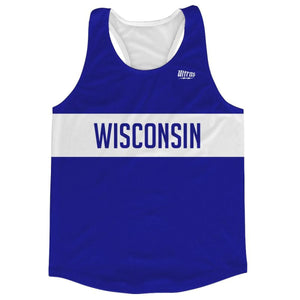 Wisconsin Finish Line Running Tank Top Racerback Track and Cross Country Singlet Jersey - Royal Blue / Adult X-Small - Running Top