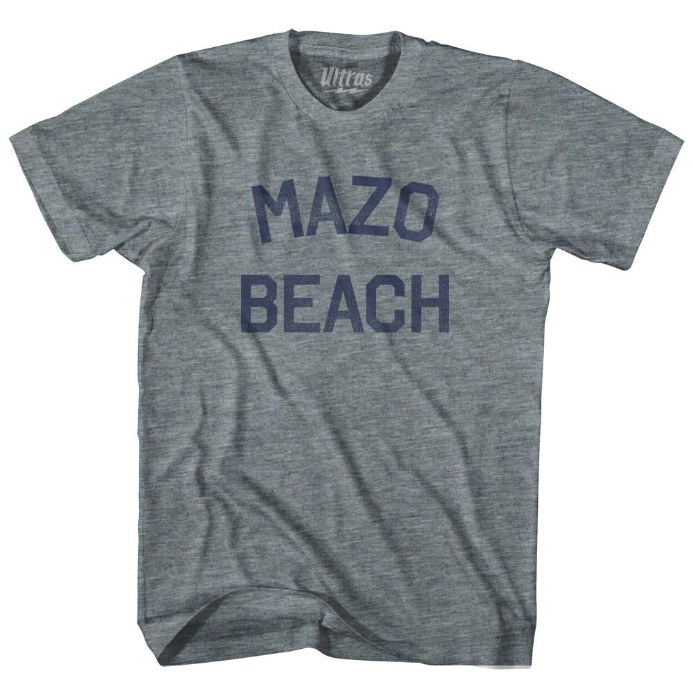 Wisconsin Mazo Beach Womens Tri-Blend Junior Cut Vintage T-shirt by Ultras