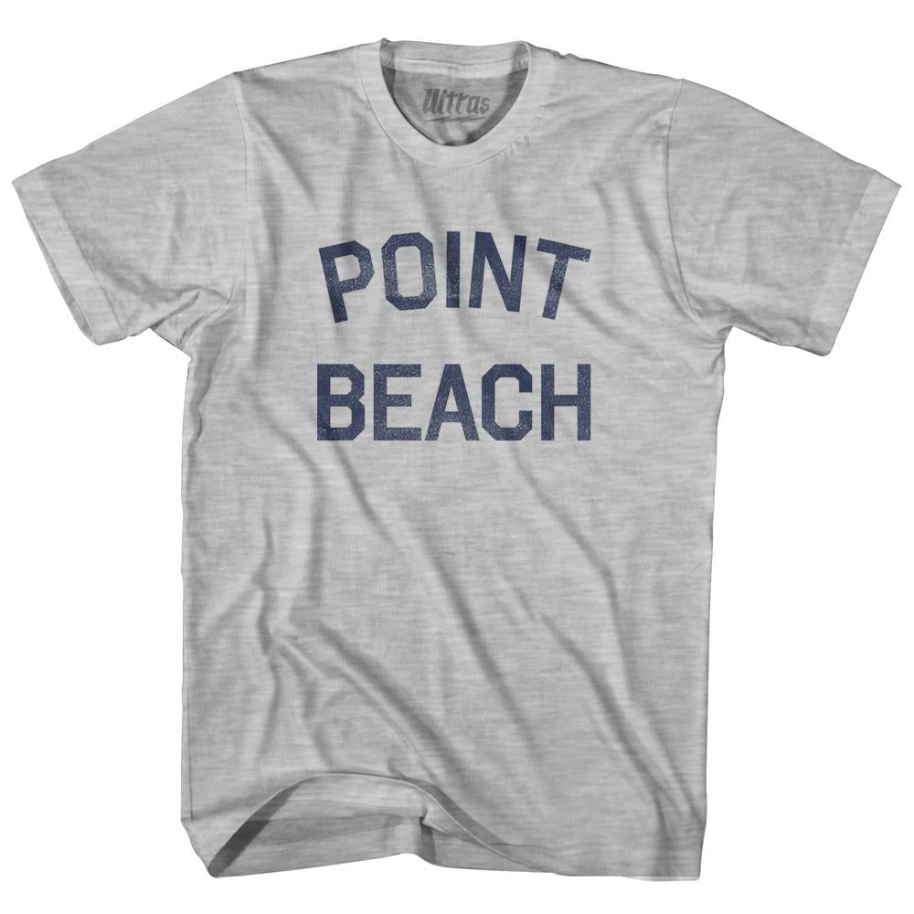 Wisconsin Point Beach Womens Cotton Junior Cut Vintage T-shirt by Ultras