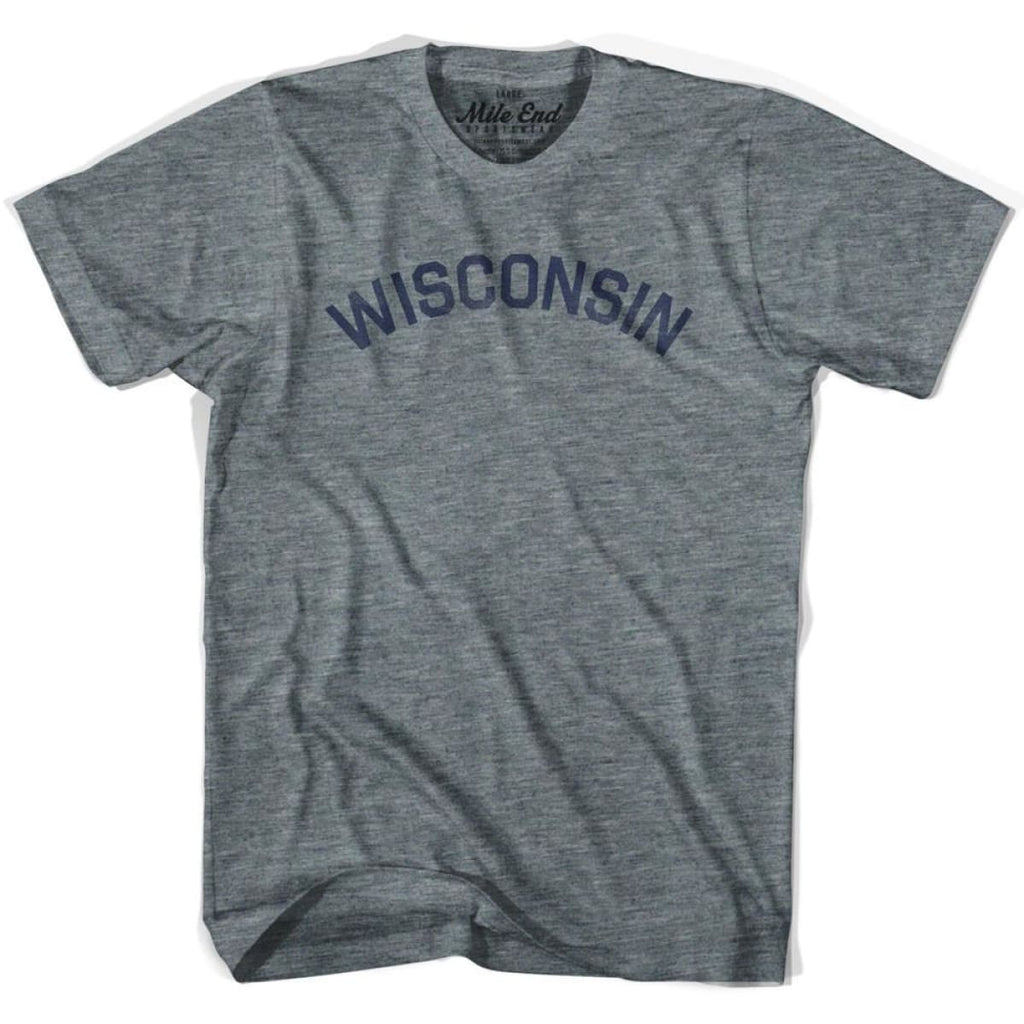 Wisconsin Union Vintage T-shirt - Athletic Blue / Adult X-Small - Mile End City