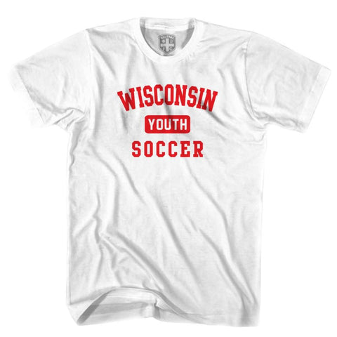 Wisconsin Youth Soccer T-shirt - White / Youth X-Small - Ultras Soccer T-shirts