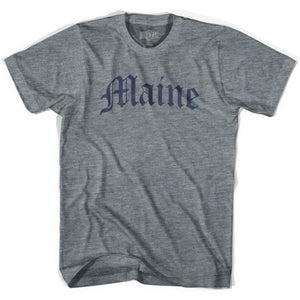 Womens Maine Old Town Font T-shirt - athletic Grey / Women-Adult Small - Old Town Collection