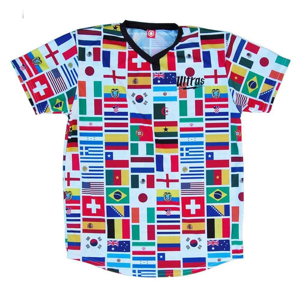 World Cup 2014 32 Flags Soccer Jersey - Ultras Country Soccer Jerseys