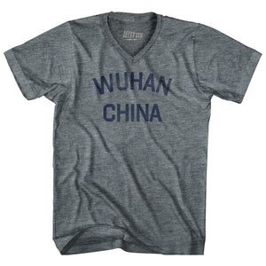 Wuhan China Adult Tri-Blend V-neck T-shirt for Sale | Ultras, City T-shirt, T-shirt