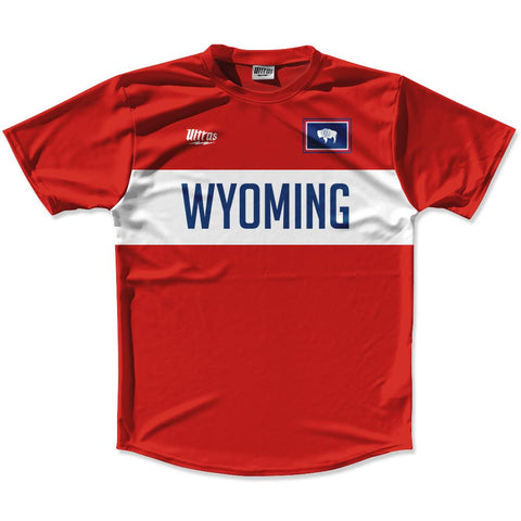 Ultras Wyoming Flag Finish Line Running Cross Country Track Shirt Made In USA