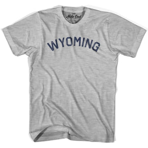 Wyoming Union Vintage T-shirt - Grey Heather / Youth X-Small - Mile End City