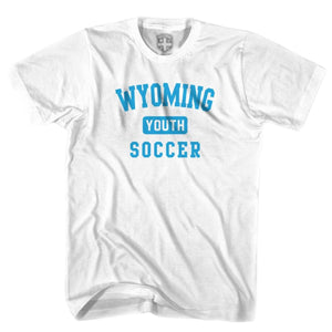 Wyoming Youth Soccer T-shirt - White / Youth X-Small - Ultras Soccer T-shirts